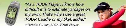 SkyCaddie Statement, Natalie Gulbis